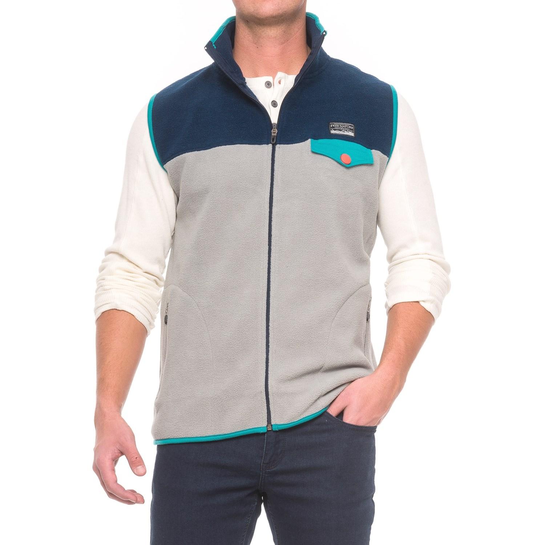 Free Nature Color-Block Fleece Vest (For Men) - Save 60%