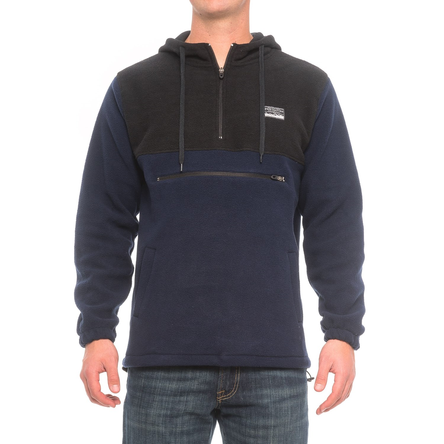 Free Nature Color-Block Hoodie (For Men) - Save 49%