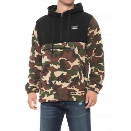 Free Nature Color-Block Hoodie - Zip Neck (For Men) in Camo/Black - Closeouts