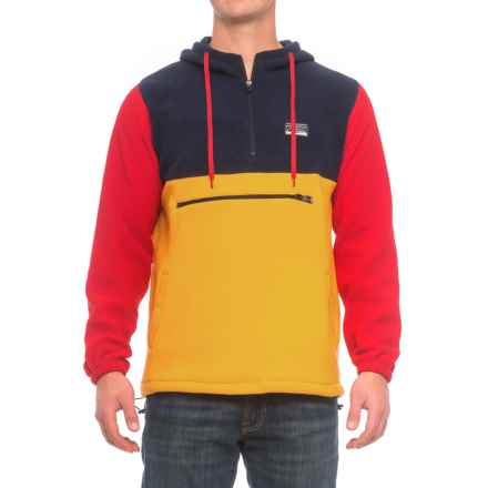 Free Nature Color-Block Hoodie - Zip Neck (For Men) in Peacoat/Mustard/Red - Closeouts