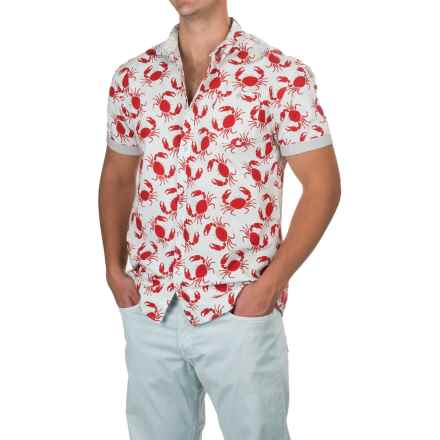 Free Nature Crabs Poplin Shirt - Short Sleeve (For Men) in Clearly Aqua - Closeouts