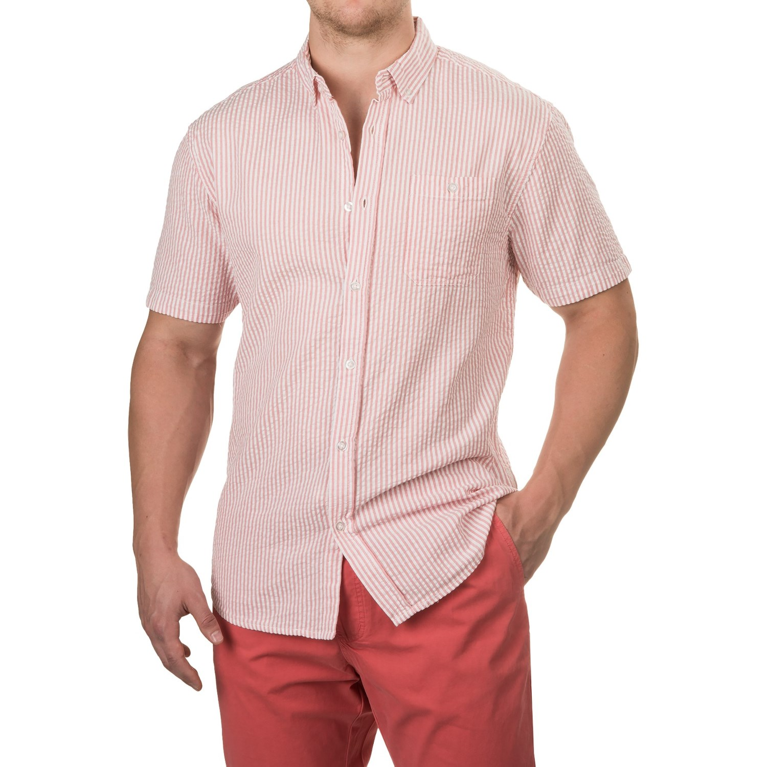 Collection of mens seersucker shirt best fashion trends for Mens short sleeve seersucker shirts