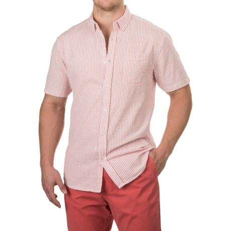 Free Nature Seersucker Shirt - Short Sleeve (For Men) in Nantucket Red/White