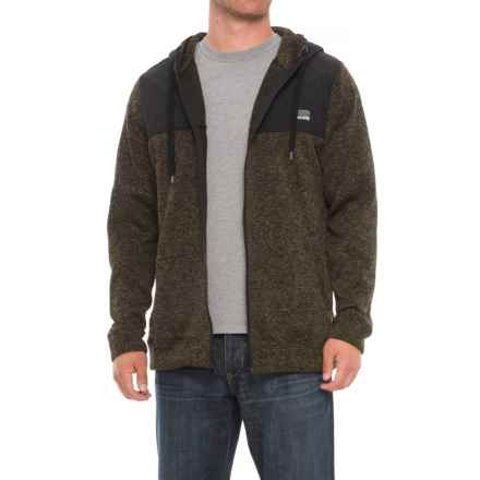 Free Nature Sweater Fleece Hoodie - Zip Front (For Men) in Dull Army - Closeouts
