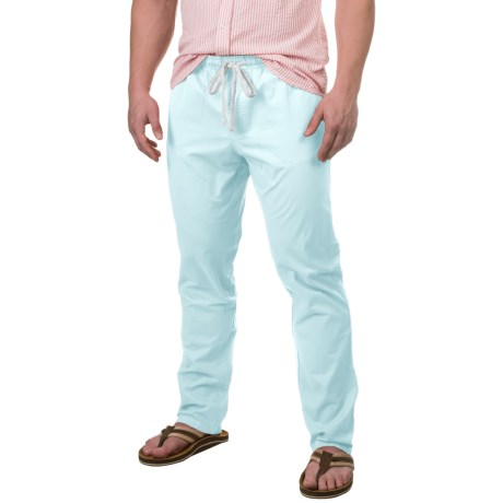 Free Nature Twill Drawstring Pants (For Men) in Ballad Blue