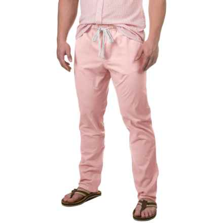 Free Nature Twill Drawstring Pants (For Men) in Barely Pink - Closeouts