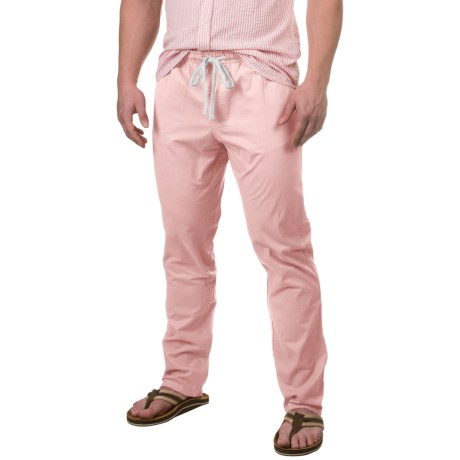 Free Nature Twill Drawstring Pants (For Men) in Barely Pink