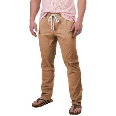 Free Nature Twill Drawstring Pants (For Men) in Tobacco - Closeouts