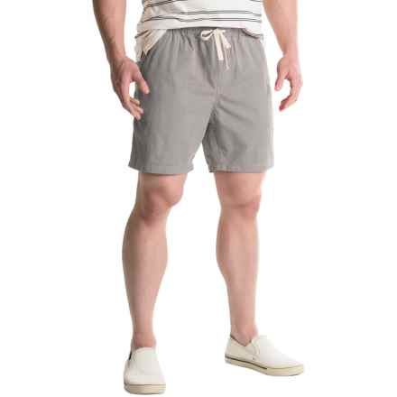 Free Nature Twill Drawstring Shorts (For Men) in Grey - Closeouts
