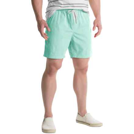 Free Nature Twill Drawstring Shorts (For Men) in Mint - Closeouts