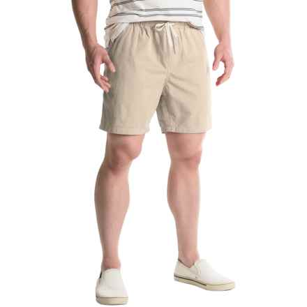 Free Nature Twill Drawstring Shorts (For Men) in Stone - Closeouts