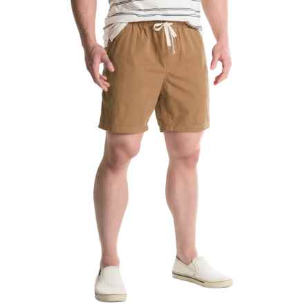 Free Nature Twill Drawstring Shorts (For Men) in Tobacco - Closeouts