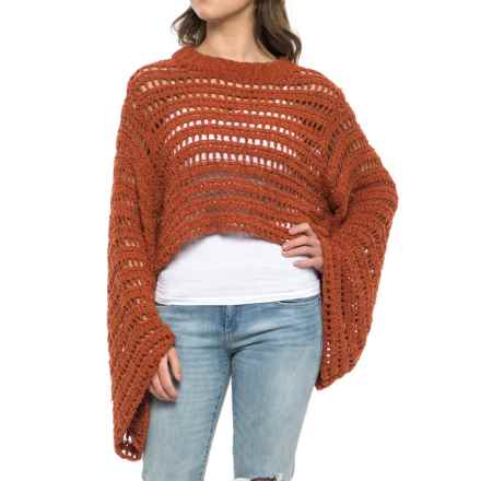 Free People Caught Up Crochet Cropped Sweater (For Women) in Terracotta - Closeouts