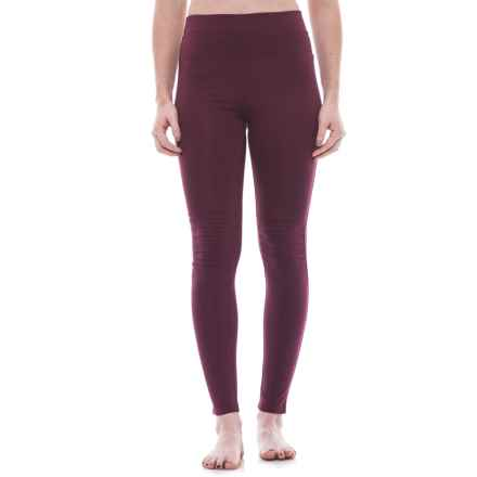 Free People City Slicker Leggings - High Rise (For Women) in Merlot - Closeouts