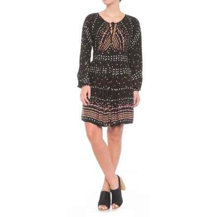 Free People Coryn Mini Dress - Long Sleeve (For Women) in Black Combo - Closeouts