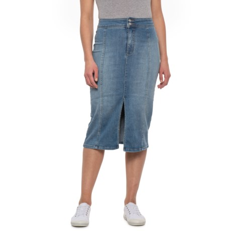 f1e3db55ba80 Free People Denim Blue Maddie Denim Midi Skirt (For Women) in Denim Blue