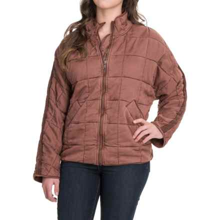 Free People Dolman Quilted Jacket - TENCEL® (For Women) in Terracotta - Closeouts