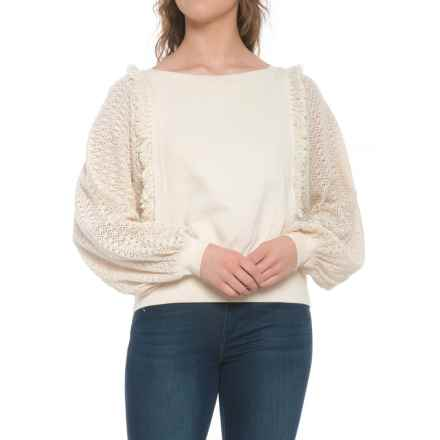 Free People Faff and Fringe Pullover Sweater (For Women) in Ivory - Closeouts
