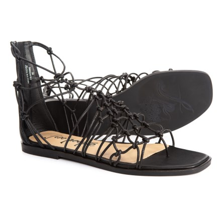 9e3c10ec97f Free People Forget Me Knot Sandals - Leather (For Women) in Black