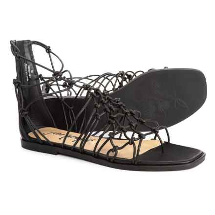 Free People Forget Me Knot Sandals - Leather (For Women) in Black