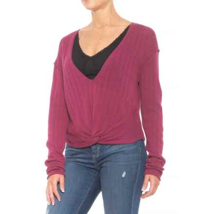 Free People Got Me Twisted Sweater (For Women) in Wine - Closeouts