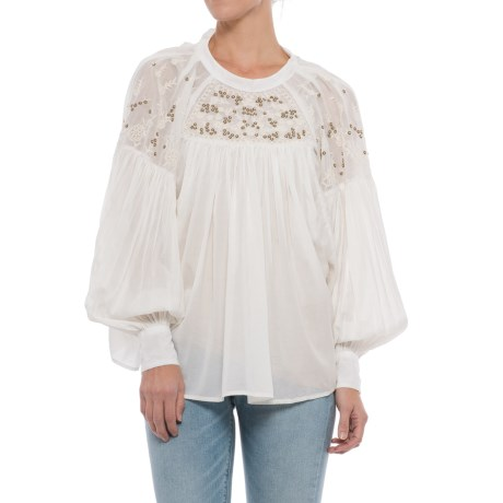 Free People Have It My Way Embroidered Shirt - Long Sleeve (For Women)