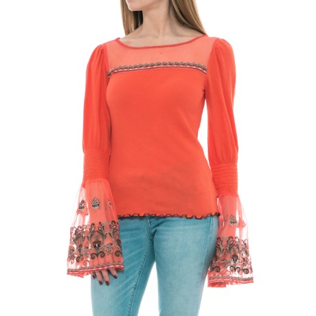 Free People High Tides Shirt - Long Sleeve (For Women) in Red
