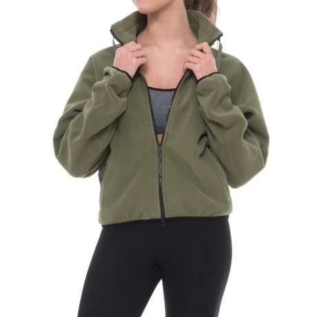 Free People Higher Ground Fleece Jacket (For Women) in Soft Army