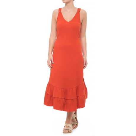 Free People Into You Maxi Dress - Sleeveless (For Women) in Red