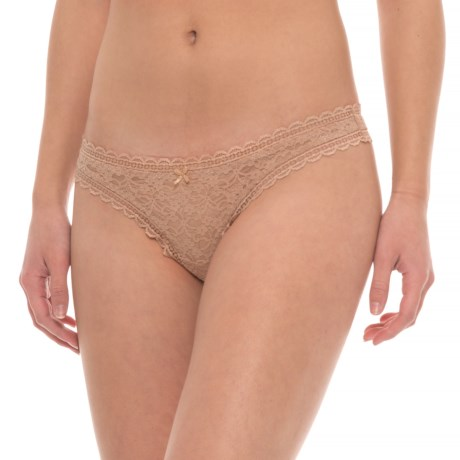 Free People Lace Panties - Thong (For Women) in Nude