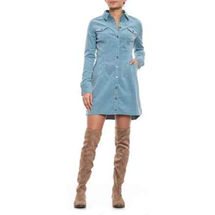 Free People Light Blue Dynamite in Corduroy Mini Dress (For Women) in Light Blue - Closeouts