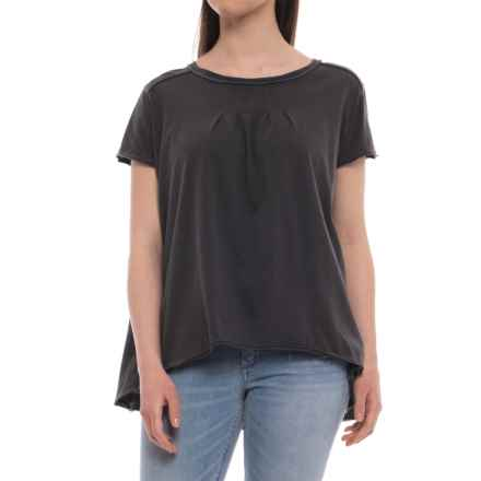 Free People Little Gem T-Shirt - Short Sleeve (For Women) in Black - Closeouts
