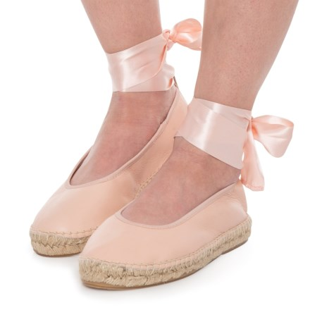 3ababf5c97c7e Free People Made in Spain Maya Wrap Espadrilles - Leather (For Women) in  Pink