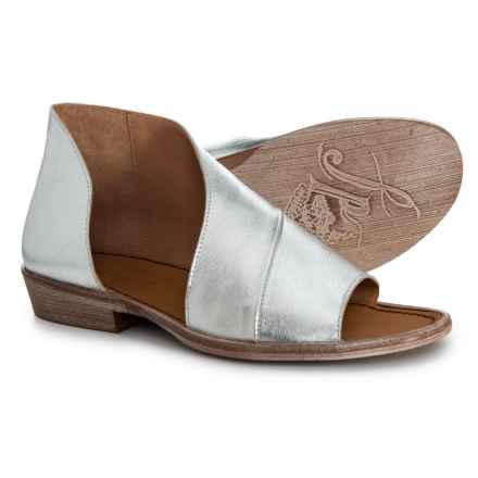 Free People Made in Spain Mont Blanc Asymmetrical Sandals - Leather (For Women) in Silver