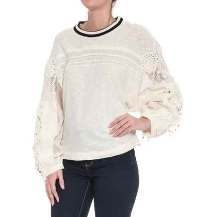 Free People Marakesh Shirt - Long Sleeve (For Women) in Ivory - Closeouts