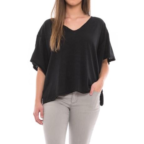 Free People My Boyfriend's T-Shirt - Short Sleeve (For Women) in Black Combo
