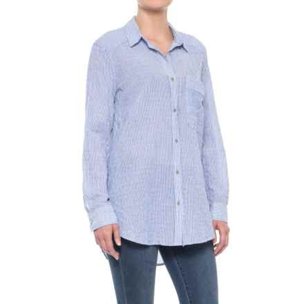 Free People No Limits Stripe Shirt - Long Sleeve (For Women) in Blue - Closeouts