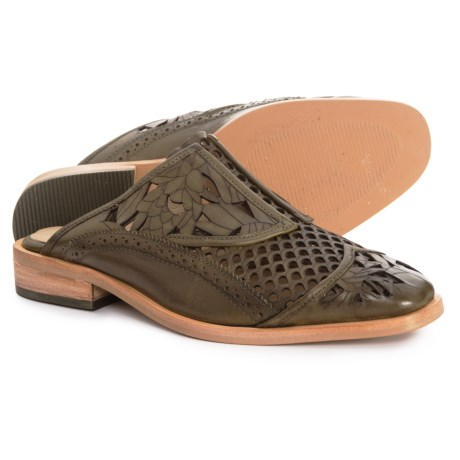 62792d2b59ebf Free People Paramount Leather Mule Shoes - Slip-Ons (For Women) in Khaki