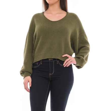 Free People Perfect Day Sweater - Scoop Neck (For Women) in Army - Closeouts