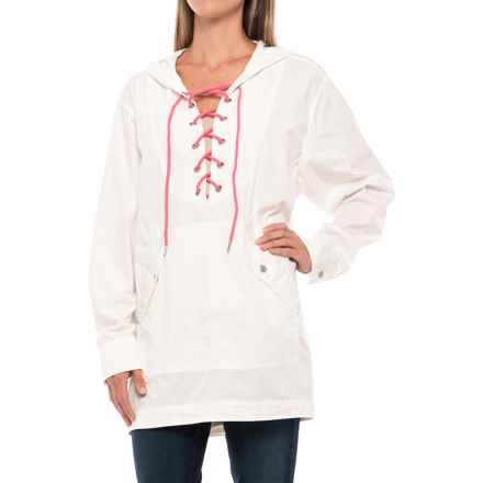 Free People Poplin Shirt - Long Sleeve (For Women) in White - Closeouts