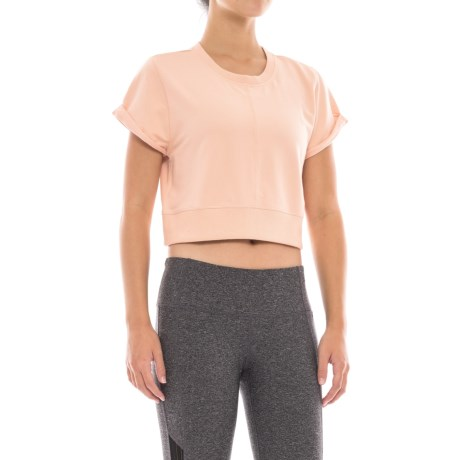 Free People Power T-Shirt - Crew Neck, Short Sleeve (For Women) in Pink