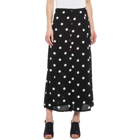 755633b95889e2 Free People Retro Love Midi Skirt (For Women) in Black/White Combo