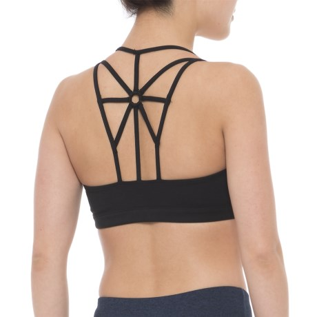 Free People Sun Salutation Sports Bra - Medium Impact (For Women) in Black