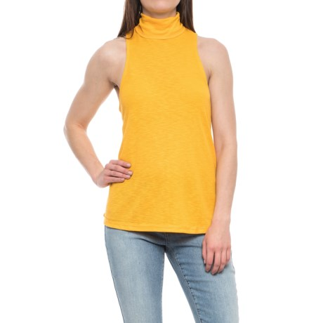 Free People Topanga Turtleneck - Sleeveless (For Women) in Beeswax
