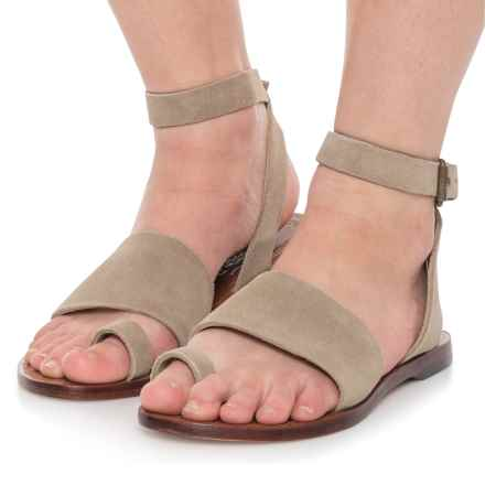 Free People Torrence Flat Sandals - Suede (For Women) in Natural