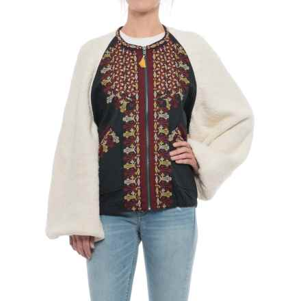 Free People Two-Faced Embroidered Jacket (For Women) in Ivory - Closeouts