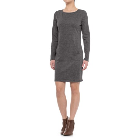 Freedom Trail Brushed Jersey Dress - Long Sleeve (For Women)