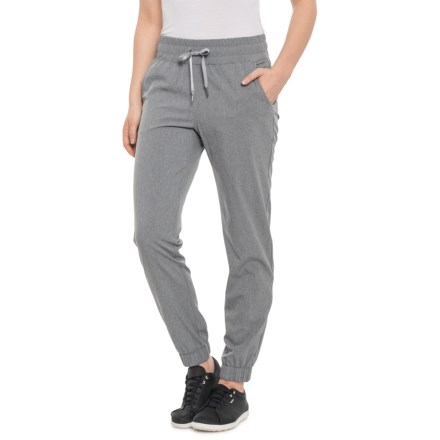 eedc489db6 Freedom Trail by Kyodan Grey Mix Woven Slim Joggers (For Women) in Grey Mix
