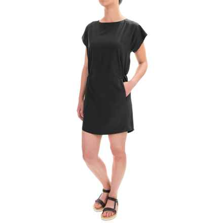 Freedom Trail by Kyodan Woven Stretch Dress - Short Sleeve (For Women) in Black - Closeouts