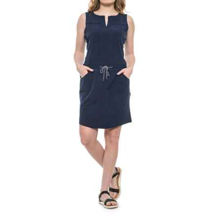 Freedom Trail Drawstring Dress - Sleeveless (For Women) in Navy - Closeouts